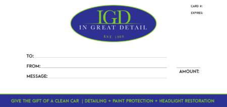 In Great Detail Gift Certificate